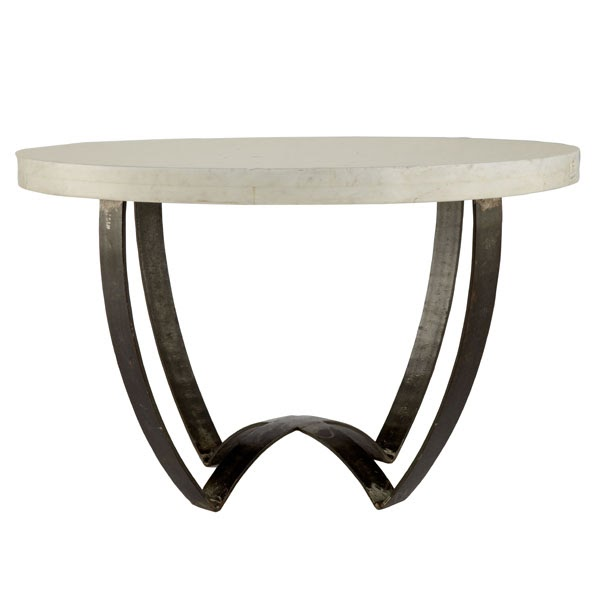 Rg the shop library sleek marble top coffee table for Stone topped coffee tables
