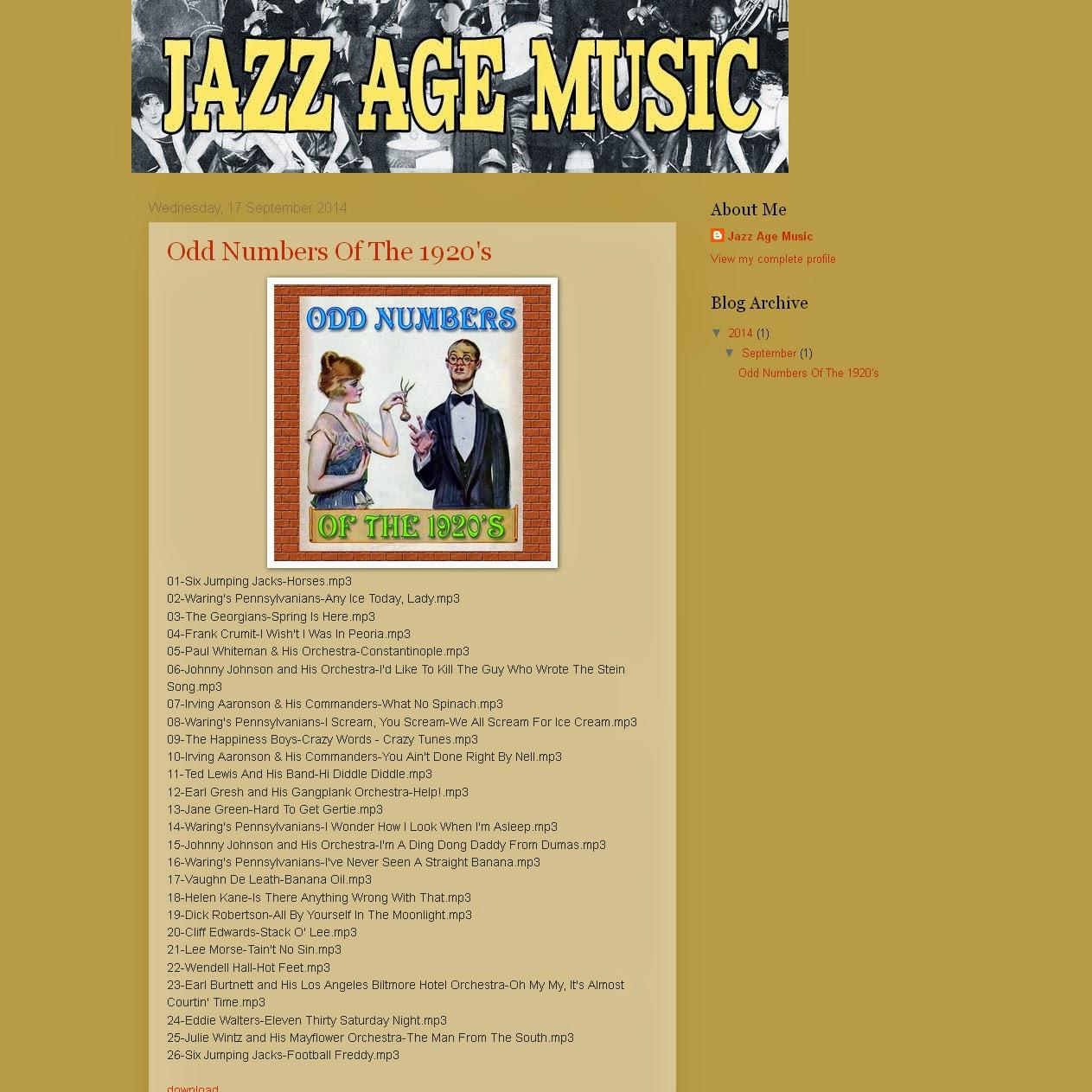 Jazz Age Music