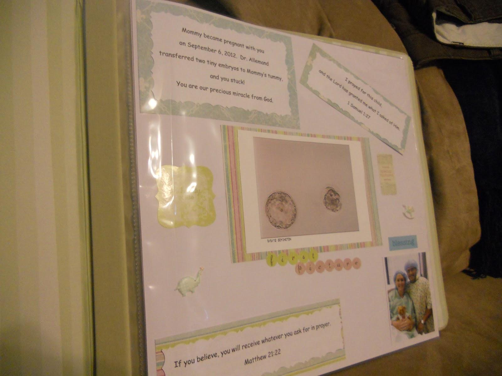 Journey scrapbook ideas - Pregnancy Scrapbook