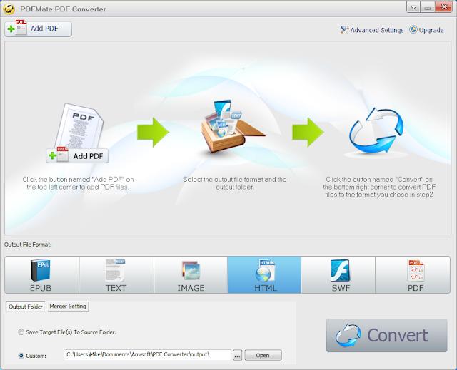 برنامج مجانى مميز لتحويل الملفات بصيغة PDF الى أى صيغة اخرى ترغب بها و6 صيغ مختلفة PDF Converter Free1.70
