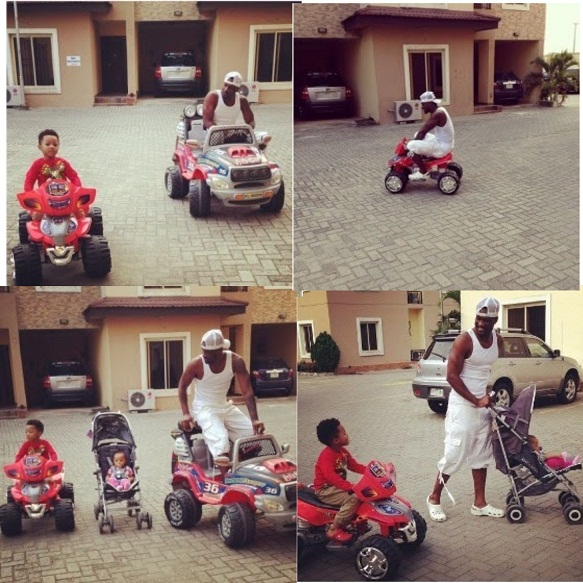 Play Time for Peter Okoye of Psqaure and his Kids chiomaandy.com