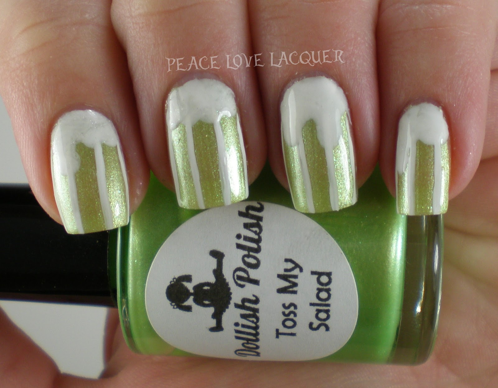 Peace Love Lacquer: Luck of the Irish Nail Art Challenge Day 1 - Green