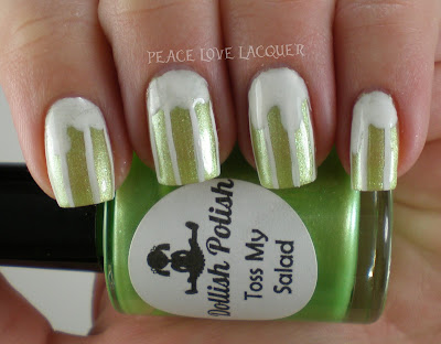 St Paddy's Day, St Patty's Day, Saint Patrick's Day, green, Dollish Polish, Toss My Salad, A-England, Holy Grail, Beer Nails, Nail Art, Green Beer