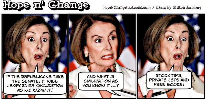 obama, obama jokes, cartoon, political, conservative, hope n' change, hope and change, stilton jarlsberg, pelosi, gop, senate, midterm, elections, 2014