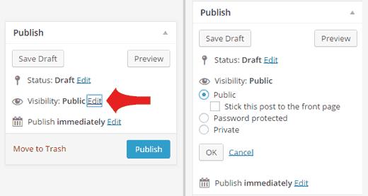 Đặt Password bài viết Trong WordPress