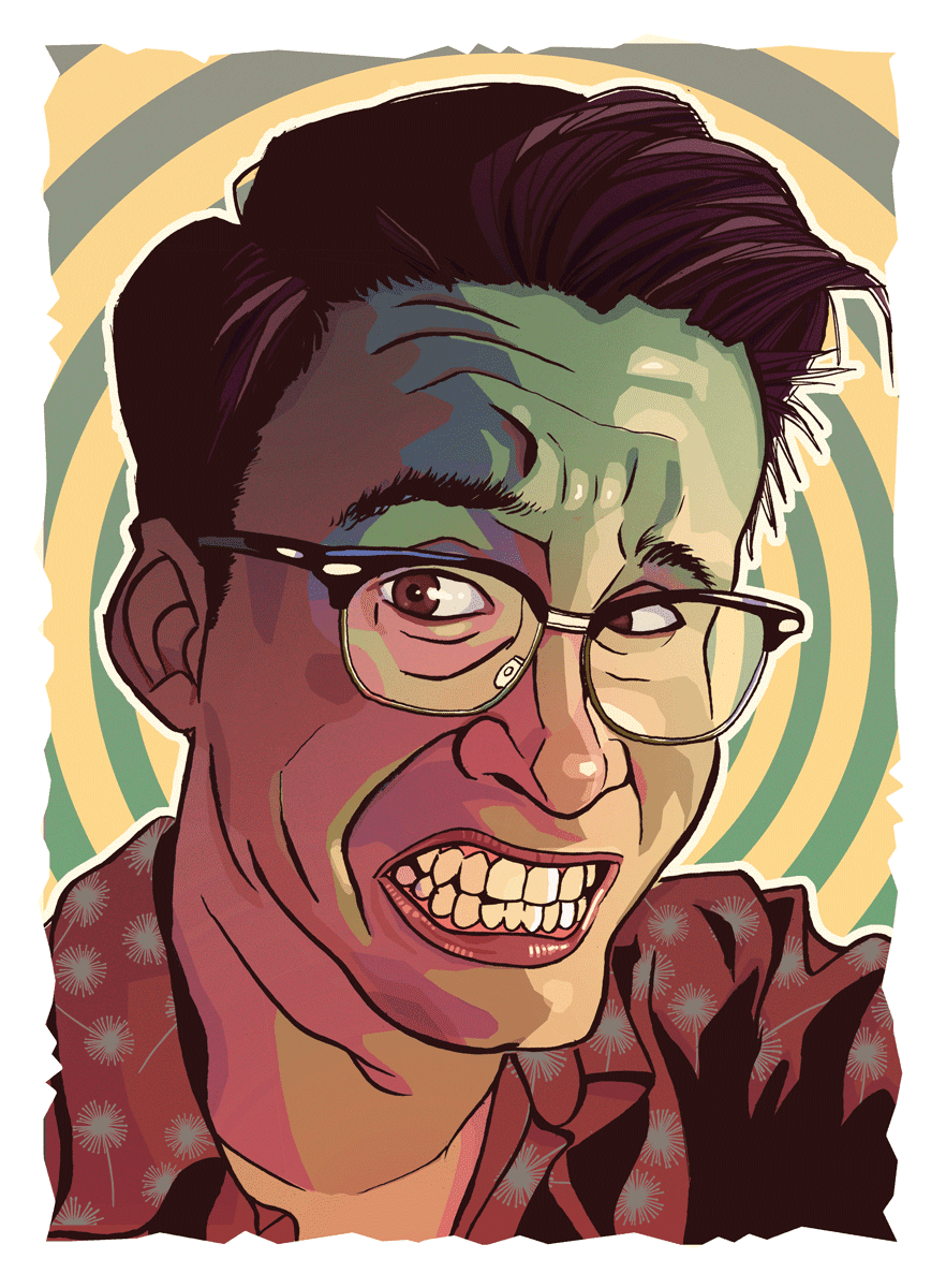 self portrait glasses illustration