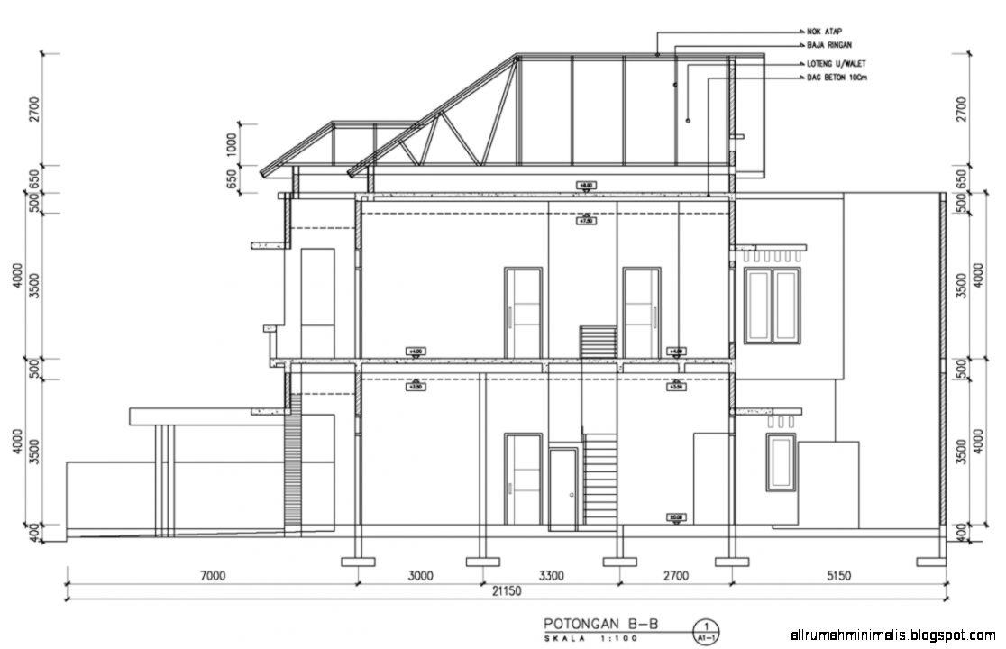 Desain Struktur Rumah Tinggal 2 Lantai menyerupai desain struktur