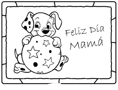 Dibujo de Felicidades para el día de las madres ~ Colorea el dibujos