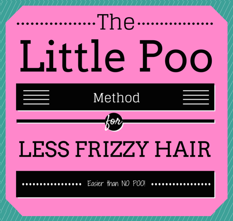 The Little Poo Method to Less Frizzy hair, an easier alternative to the NO POO METHOD