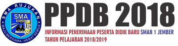 PPDB SMAN 1 Jember 2018