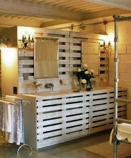 Muebles Para Baño Hechos Con Palets: bonitos muebles de baño hechos con palets! Una idea super original