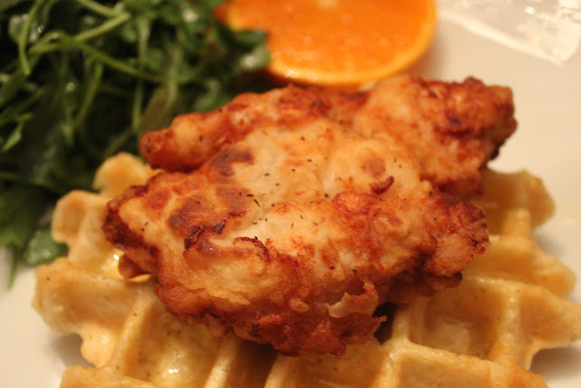 Chicken and biscuit waffles