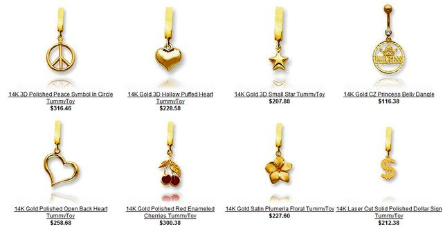 Navel Jewelry Blog Gold Belly Button Rings at JewelryAdviserCom