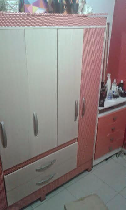 O antes e o depois de um guarda roupa e uma cômoda