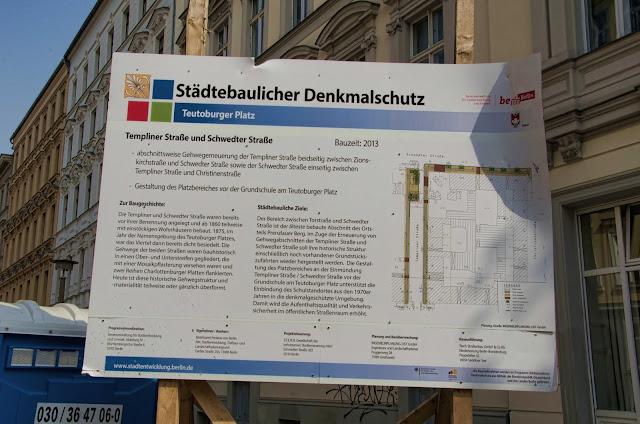 Baustelle Straßenbauarbeiten, Templiner Straße und Schwedter Straße, 10119 Berlin, 03.04.2014