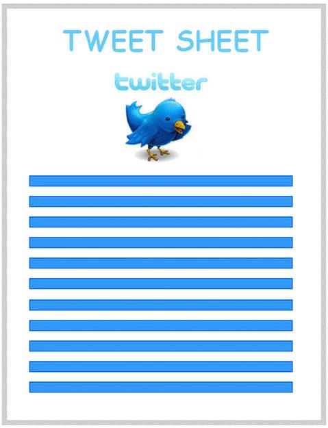 Twitter Tweet Sheet Tips Tricks And Resources