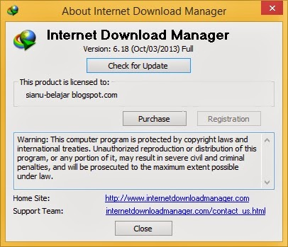 About Internet Download Manager 6.18