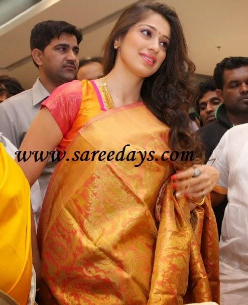 Latest saree designs lakshmi rai displaying bridal silk saree checkout south indian actress lakshmi rai displaying bridal silk saree with rich zari work all over the saree and zari border altavistaventures Image collections