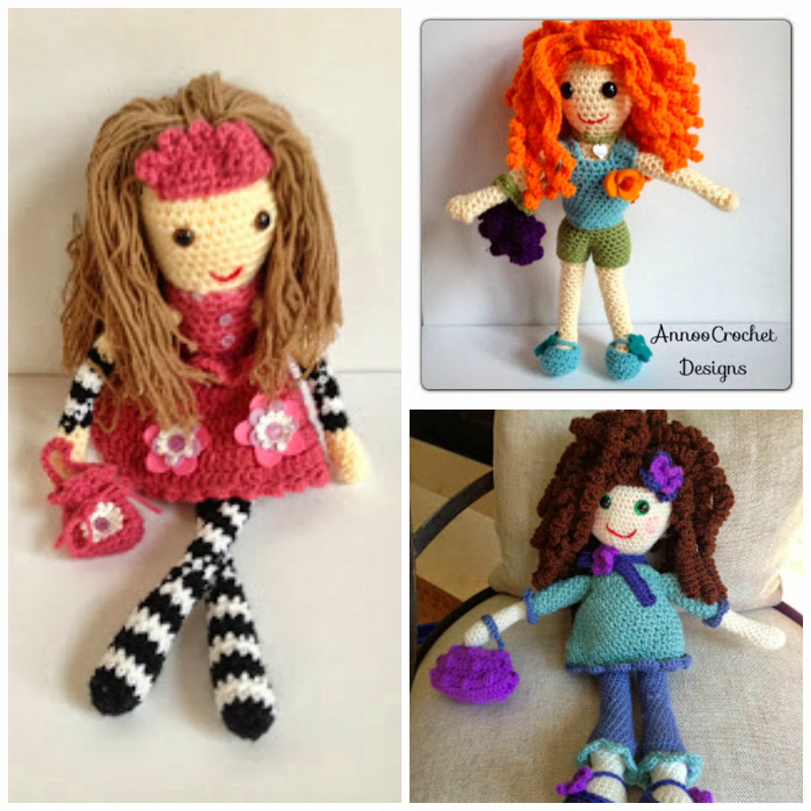 Crochet Doll Pattern Easy : Free Crochet Rag Doll Patterns images