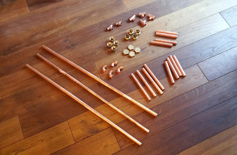 Diy mesa de centro con tubos de cobre blog decoraci n - Tubos de fontaneria ...