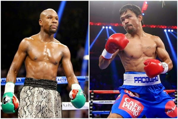 Winner takes all. Pacquiao and Mayweather lockhorns on May 3rd