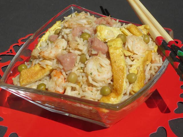 Arroz tres delicias (Ensalada de arroz)   Ana Sevilla