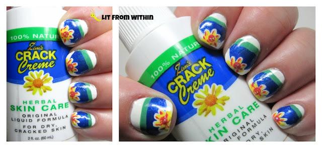 Zim's Crack Creme-inspired nail art
