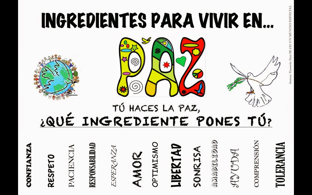 INGREDIENTES PARA VIVIR EN PAZ