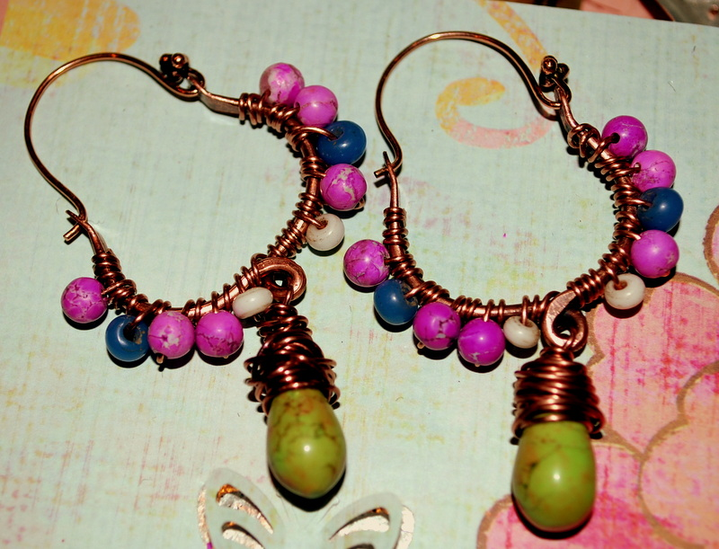 Melinda Orr Metal & Clay Jewelry Designs: Wire Wrapped Beaded ...