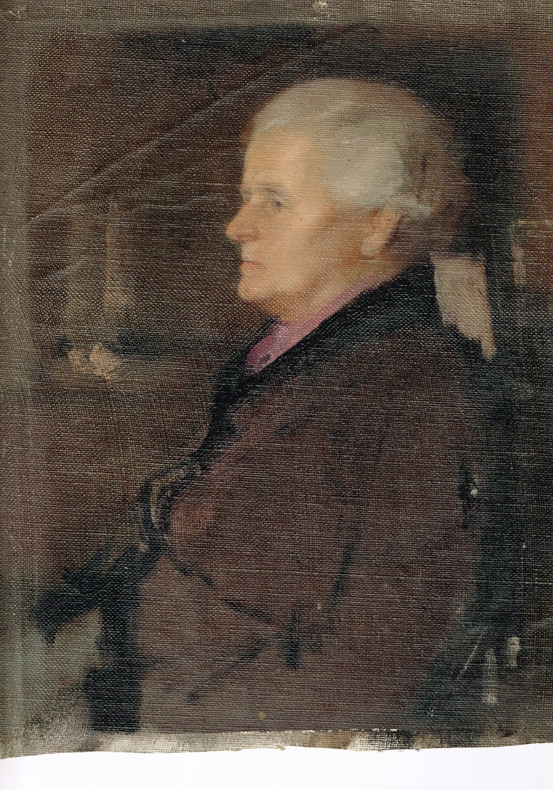 An oil painting by Roger Nicholson of my grandmother Ann