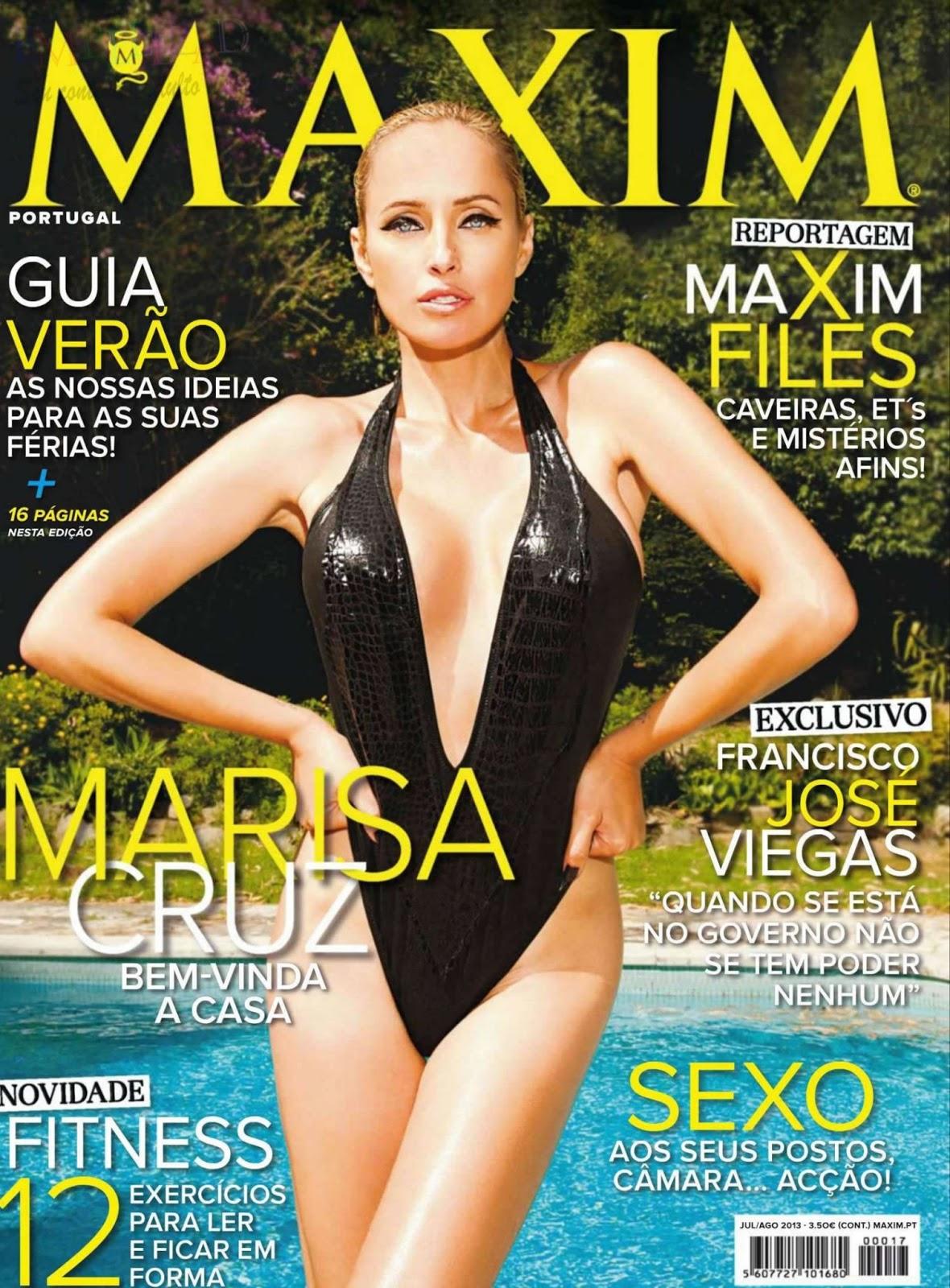 bela Marisa Cruz na revista Maxim de Portugal, edição de julho e ...