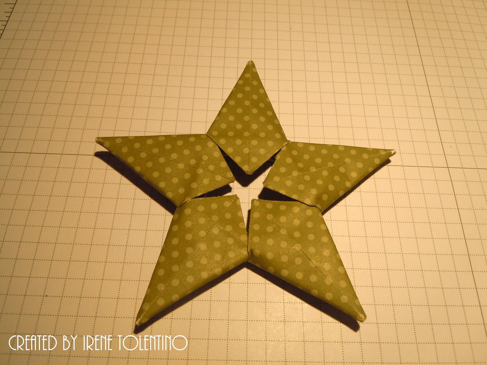 how to make christmas origami star