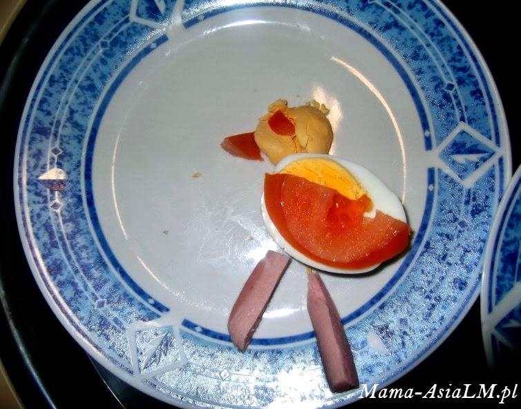 Jajko wielkanocne, czyli pomysł na śniadanie dla dziecka kurczak