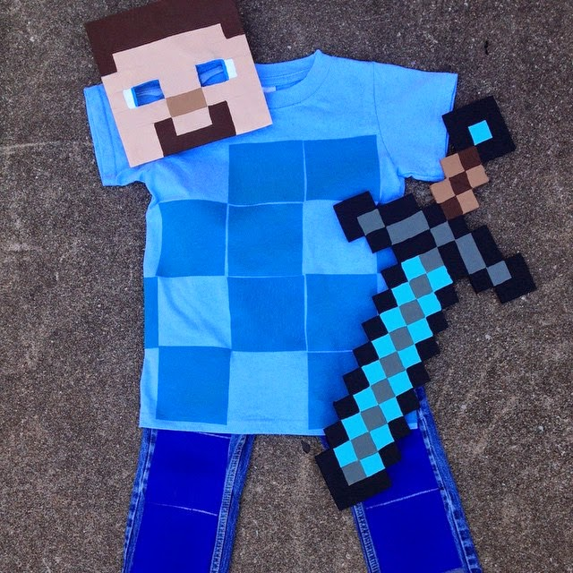 #thriftscorethursday Week 39 | Instagram user: aninspirednest shows off this Thrifted Minecraft Halloween Costume
