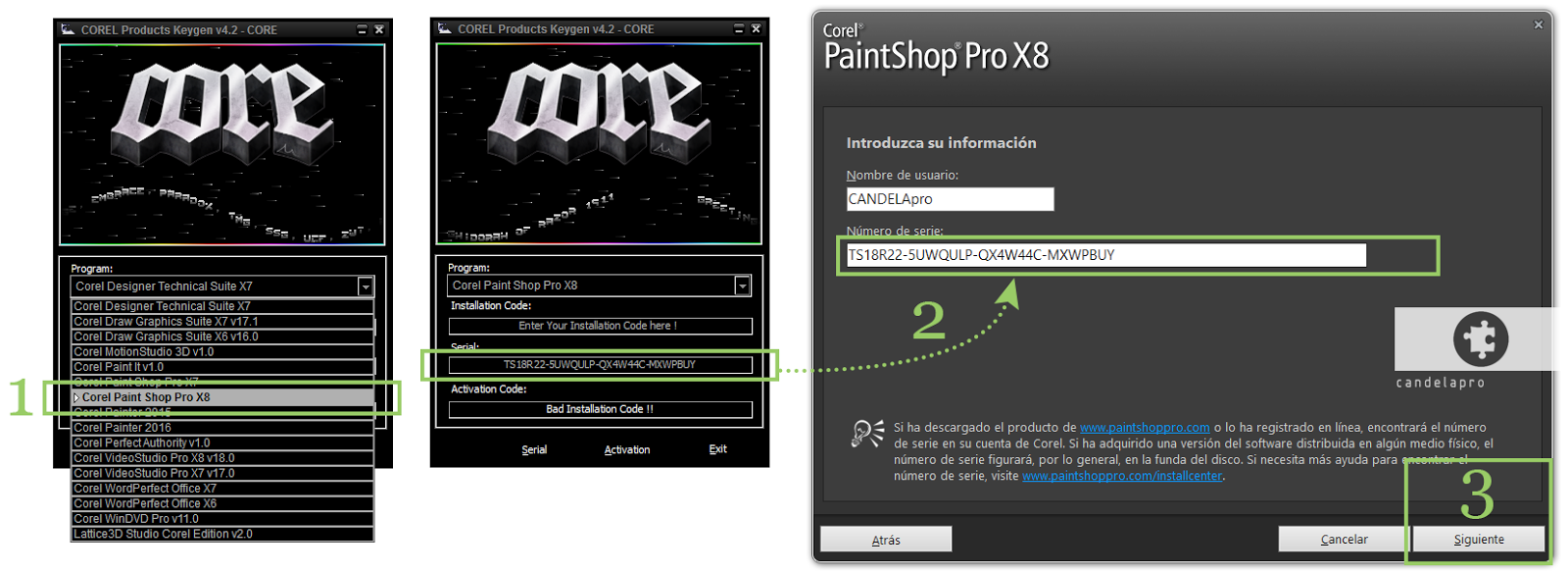 Corel Paint Shop Pro Photo X2 V12.0 free serial number key ...