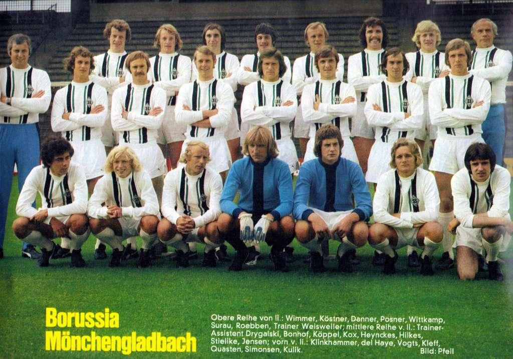 l 39 altro calcio storie di football e politica borussia moenchengladbach 1974 75. Black Bedroom Furniture Sets. Home Design Ideas