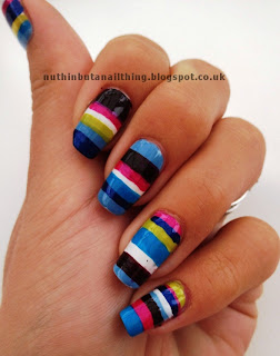 pattern striped nails nail art