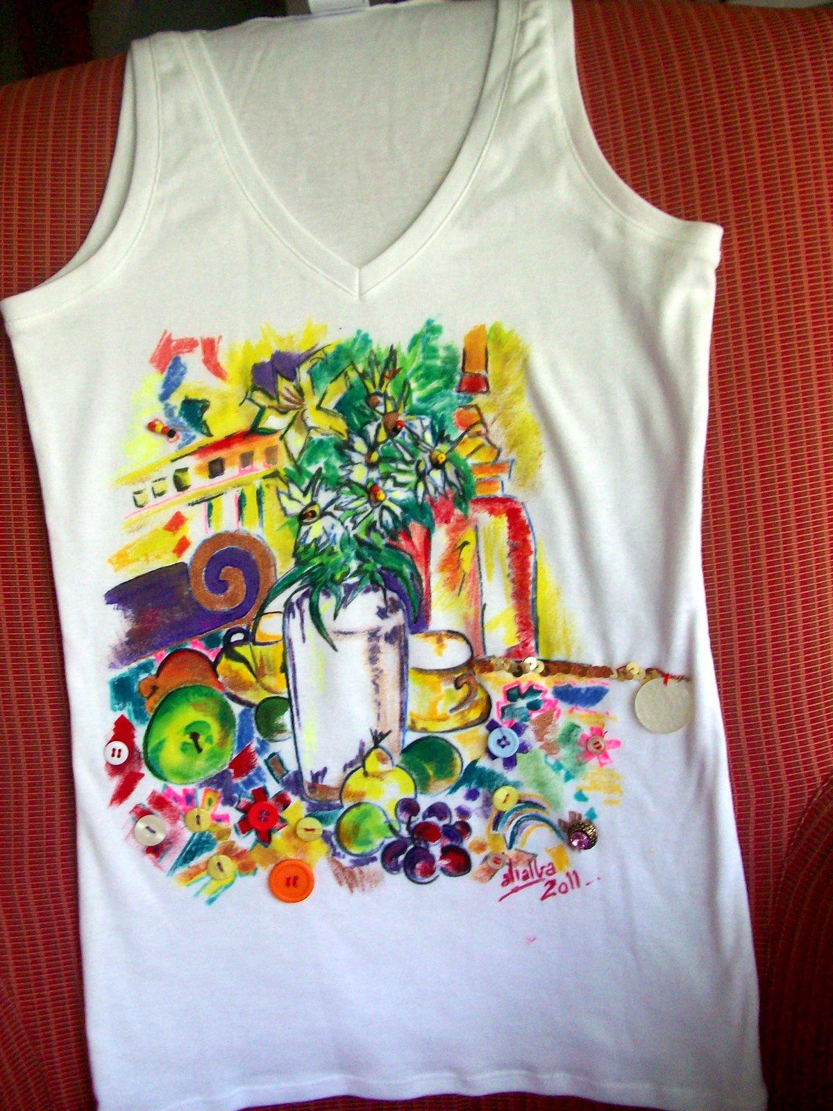 Camisetas pintadas a mano imagui - Plantillas para pintar camisetas a mano ...