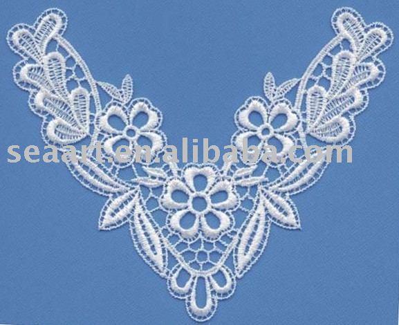 A fashion club machine embroidery neckline designs