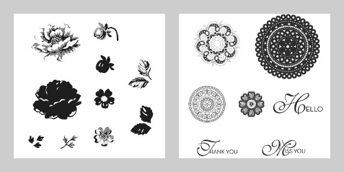 Stampin' Up! Stippled Blossoms Stamp Set and Lacy & Lovely Stamp Set