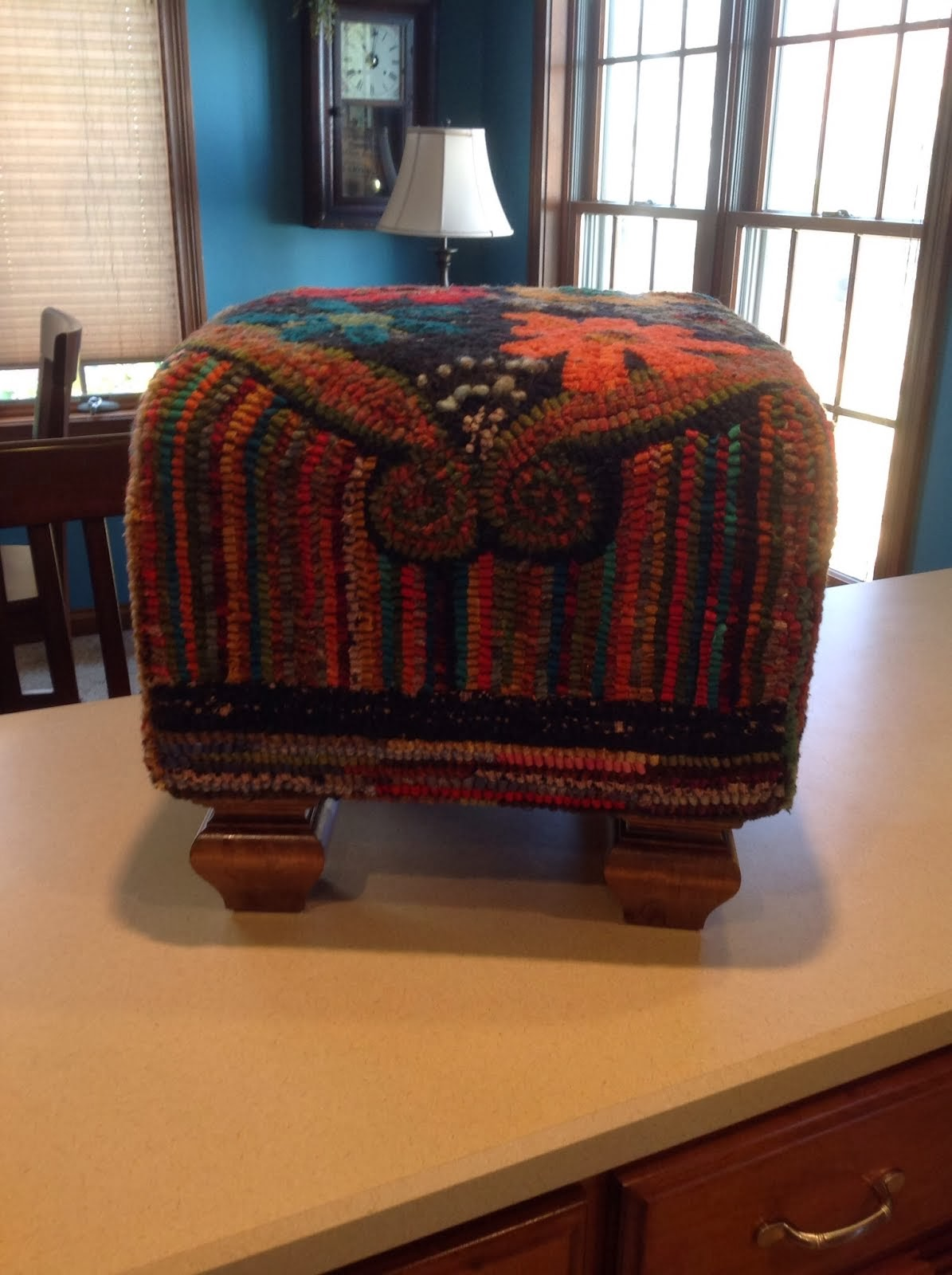 Finished footstool, Wadsworth Hidden Hills Hookers