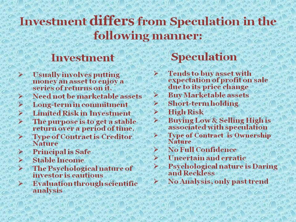 Speculative options trading