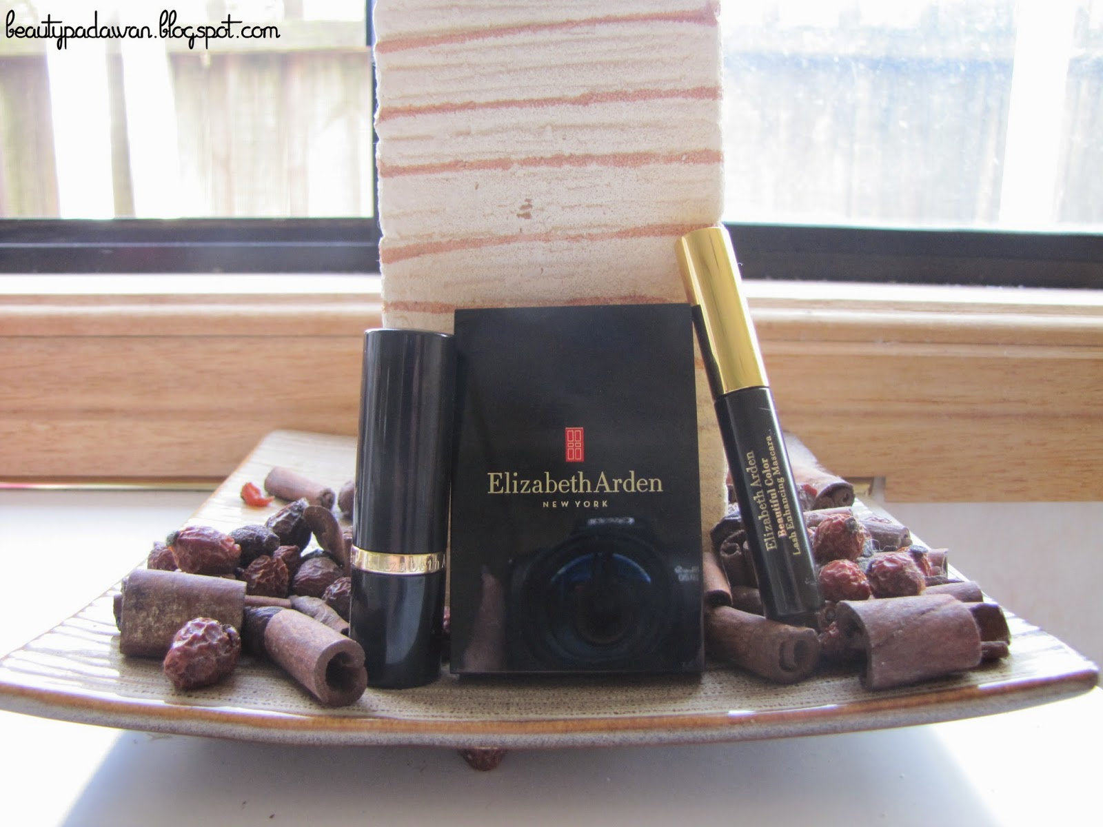 "Elizabeth Arden Ceramide Lipstick - ""Rose""; Elizabeth Arden Beautiful Color Radiance Blush - ""Romantic Rose""; Elizabeth Arden Beautiful Color Lash Enhancing Mascara"