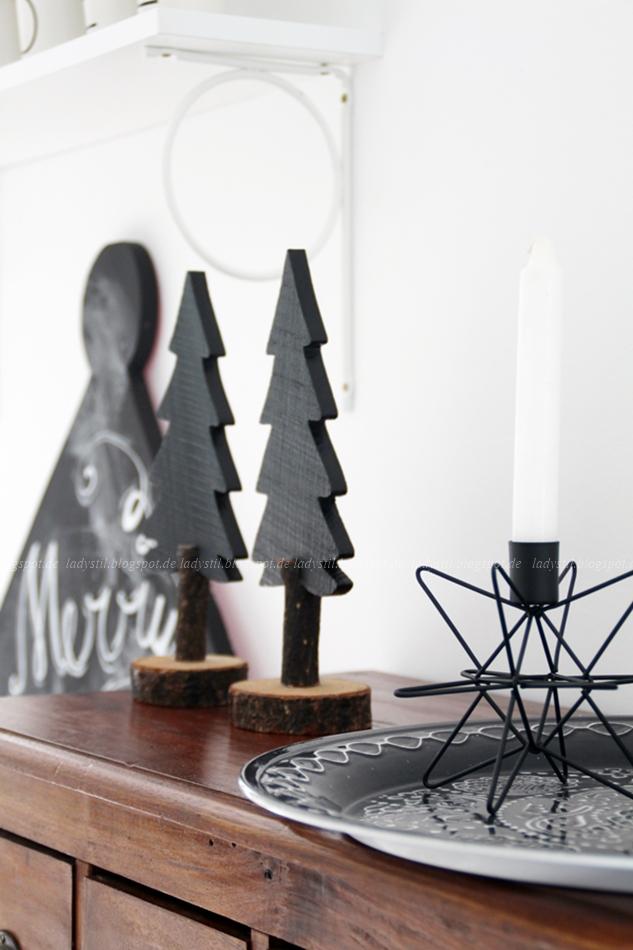 DIY Chalkboard als orientalisches Haus wie aus 1001 Nacht mit Weihnachtsdeko drumherum