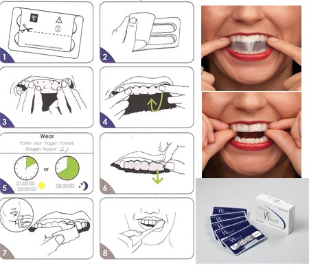 Crest whitening strip instructions that's totally