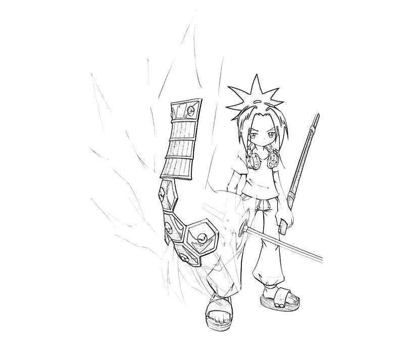 printable-shaman-king-yoh-asakura-weapon-coloring-pages
