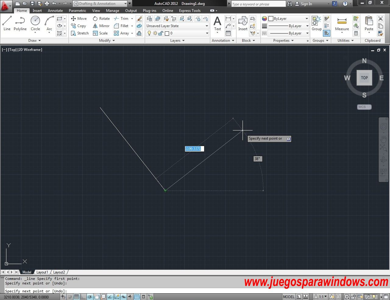 AutoCAD 2012 Español Ingles 32 64 Bits Windows Screenshot