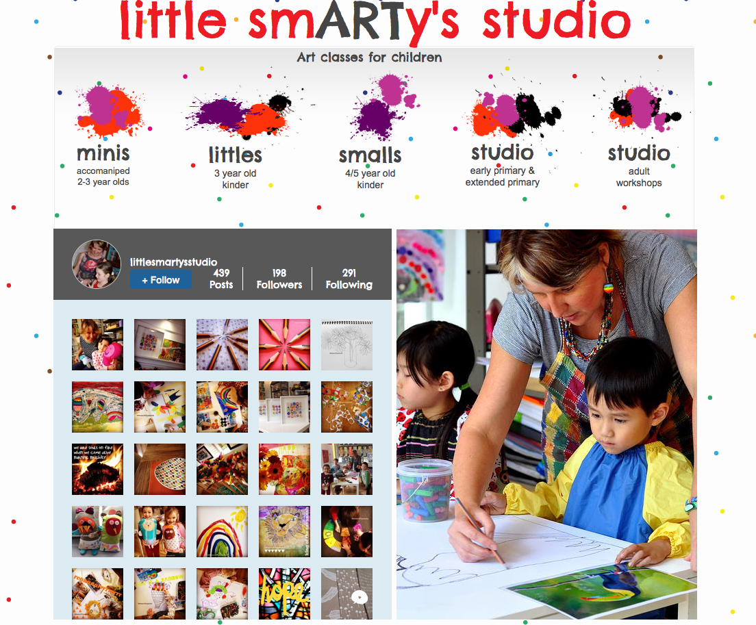 my little smARTy's studio Art Classes