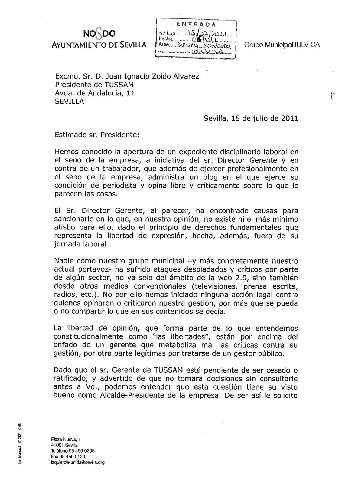 Gregorio Verdugo [Periodista]: 1/07/11 - 1/08/11