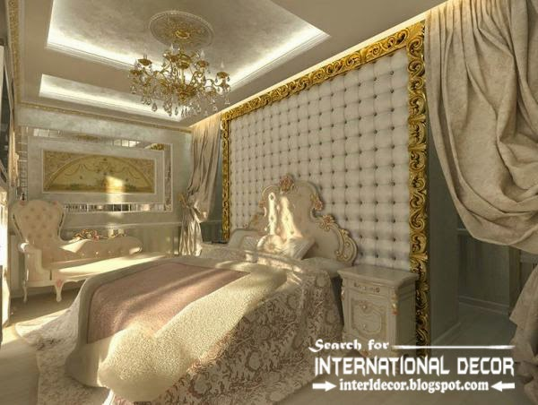 Contemporary pop false ceiling designs for bedroom 2015 for International decor bed